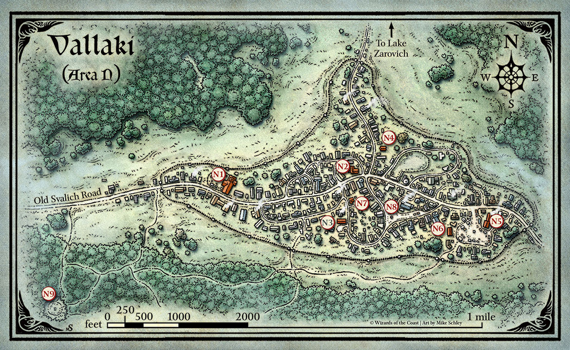 Vallaki Map