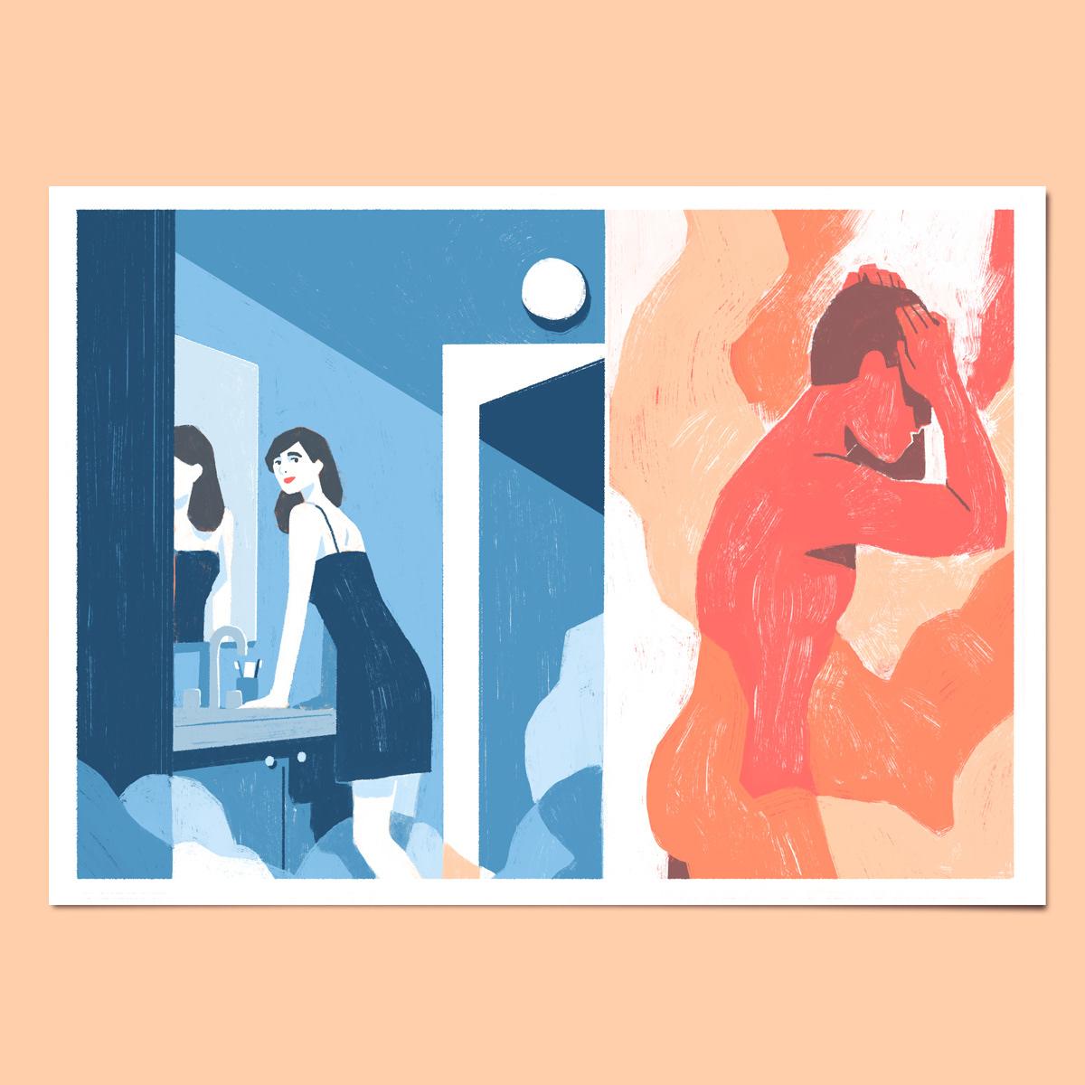 Love couple relation breakfast fight SHOWER le temps kim roselier