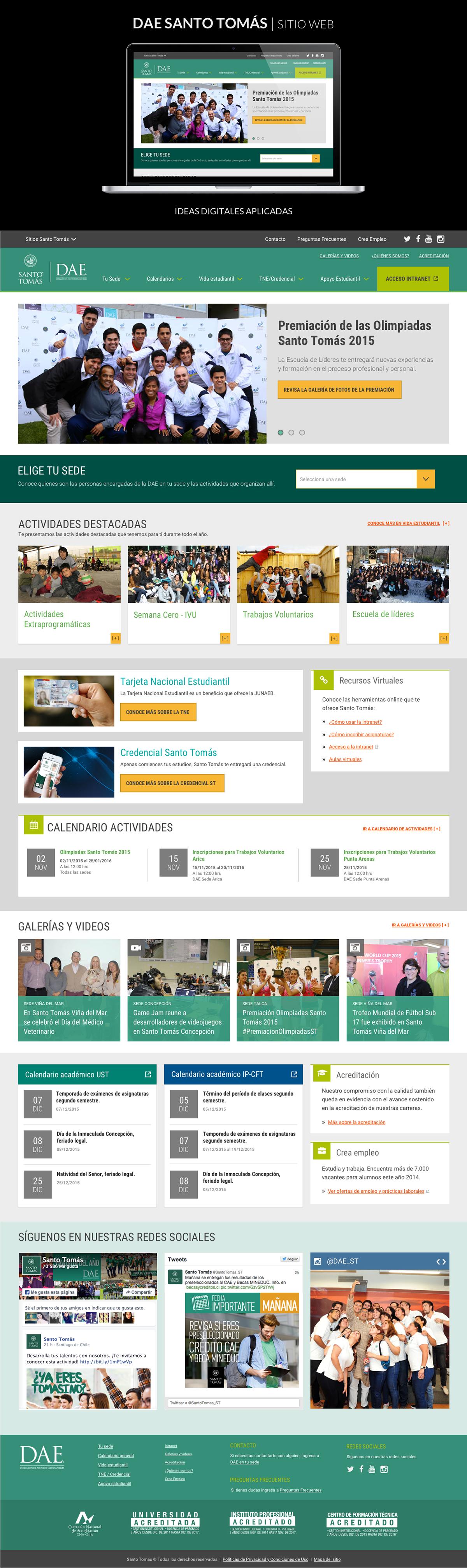 Website Diseño web University school