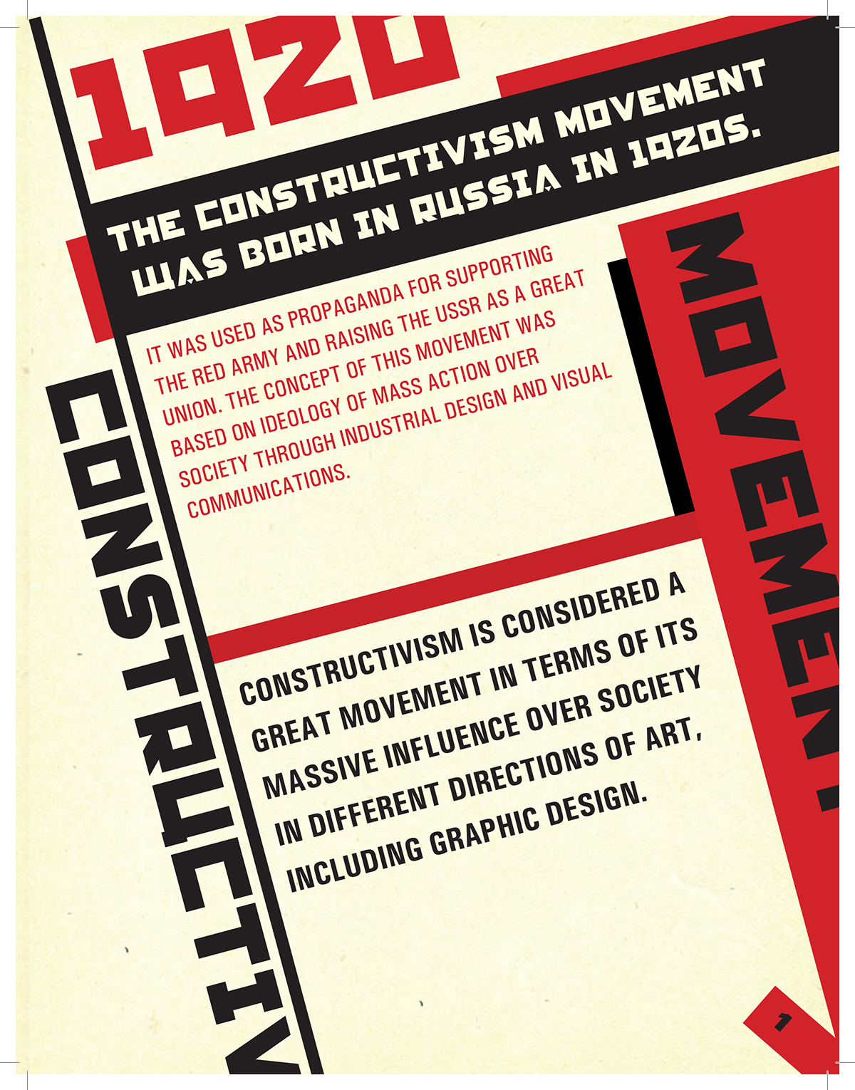 Graphic Design In Russian Constructivism On Behance