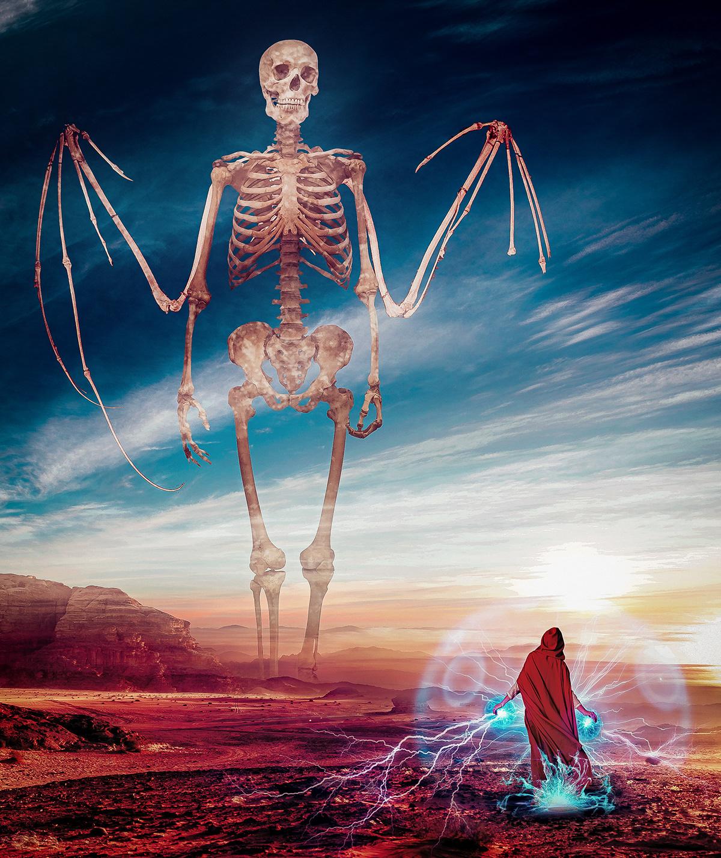 Mage VS Giant Skeleton on Behance