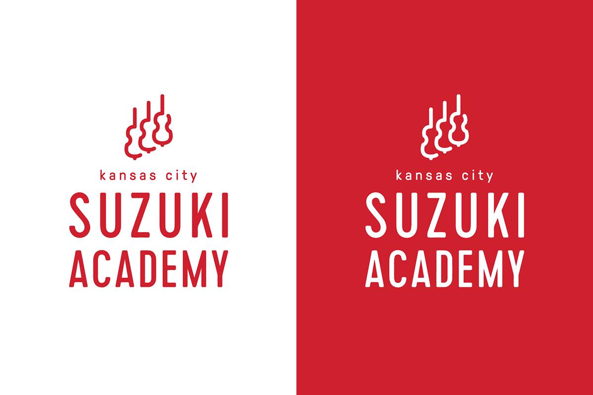 Logo Design music music school school Education Violin kansas city Suzuki academy