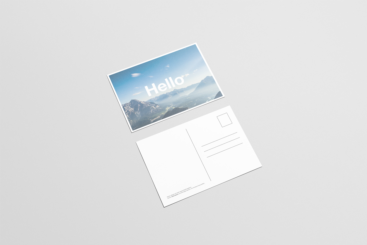 A6 Flyer Postcard Mock Up On Behance