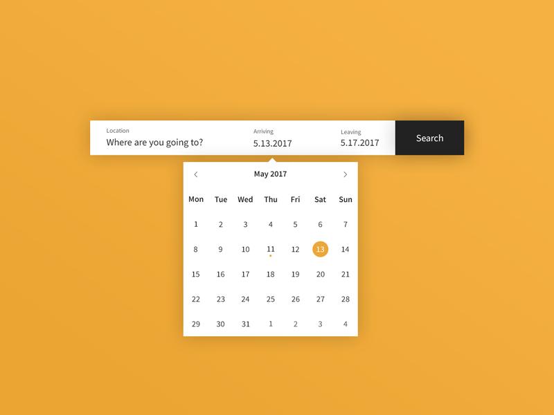 Daily UI | #080 | Date Picker on Behance