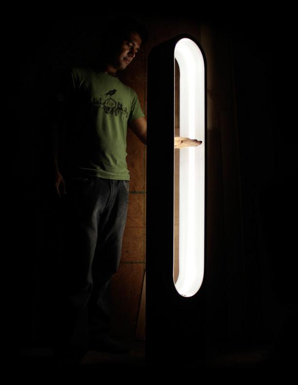 Lamp infinity wood light