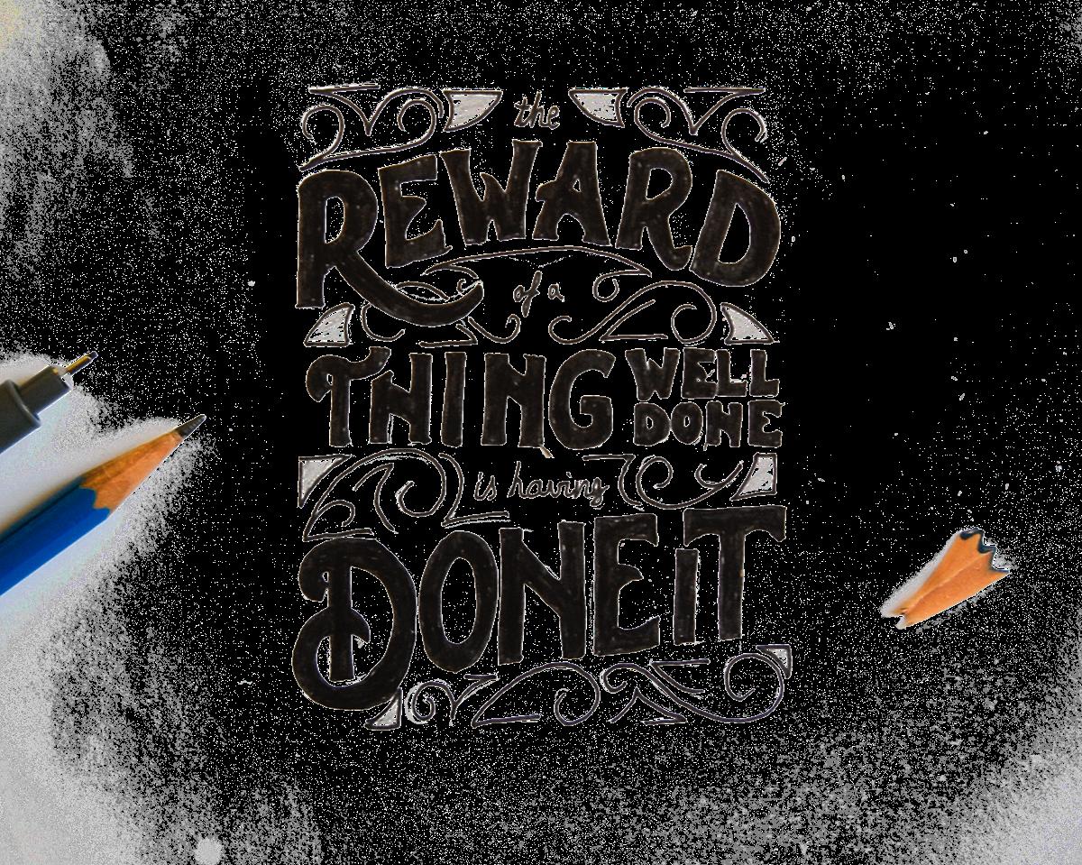 lettering hand-drawn handmade hand type papaya_ca letterer papaya wisdom quote