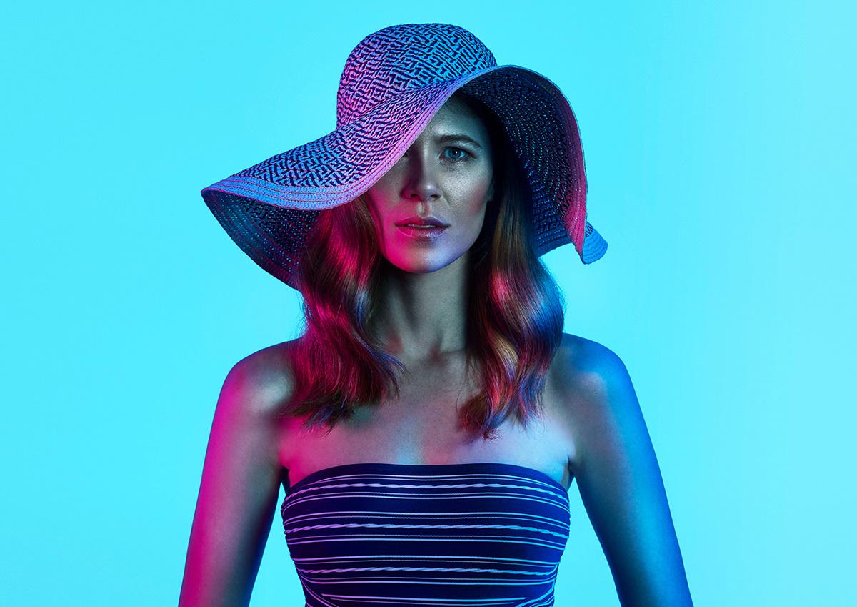 Portrét s pomíchanými barevnými kanály.