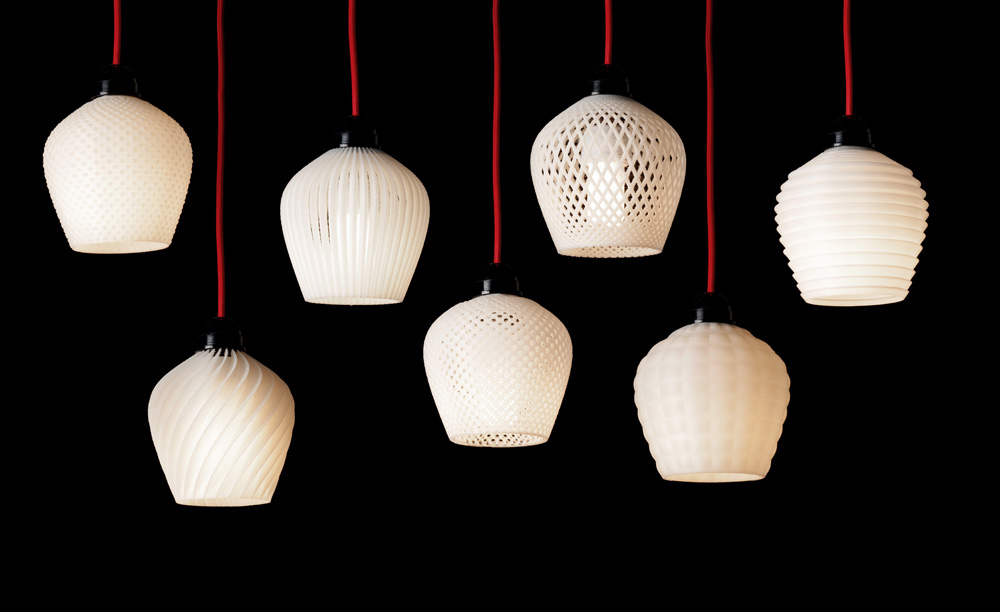 3d printed lamp shade collection on behance aloadofball Gallery