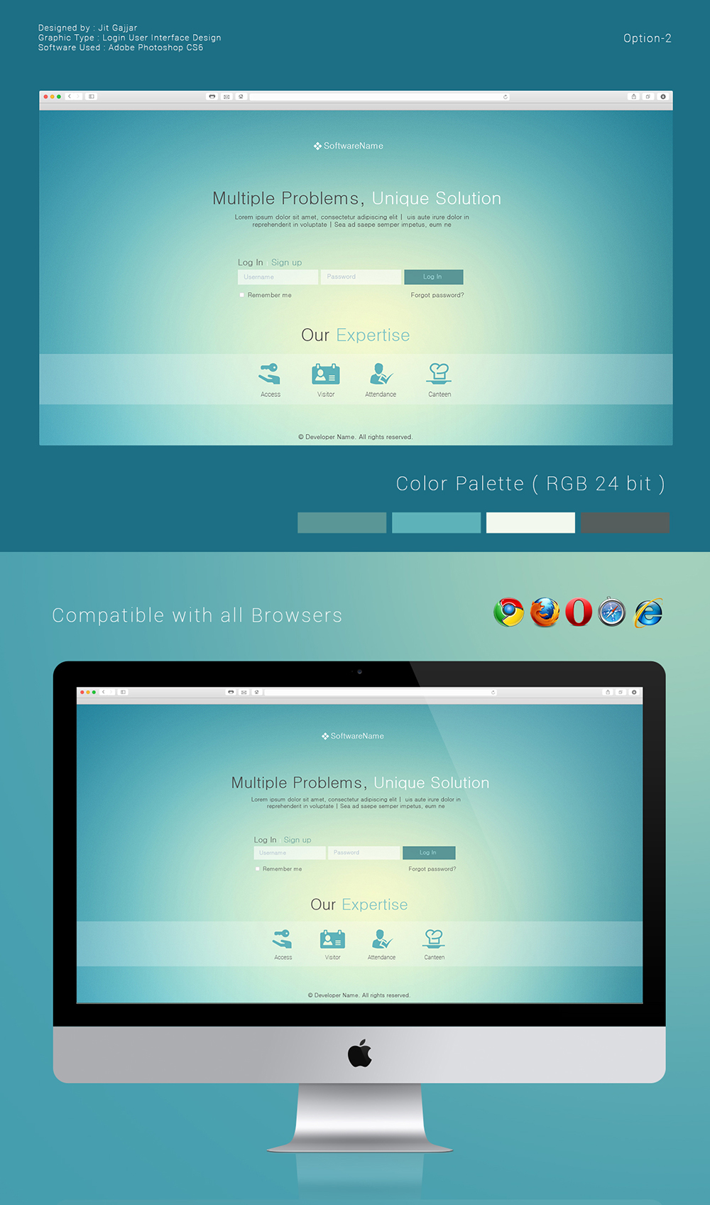Login User Interface Design Options On Behance