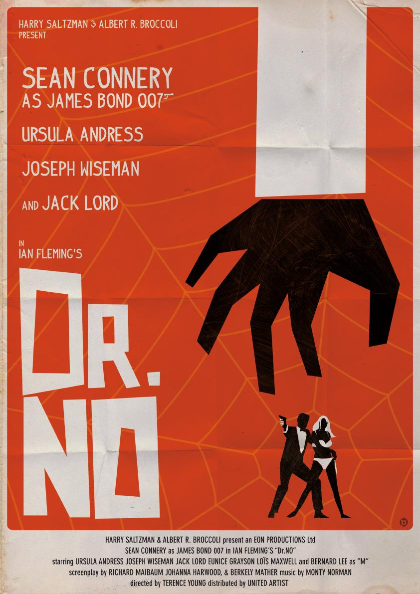 ALAIN BOSSUYT - James Bond Fan Art Posters