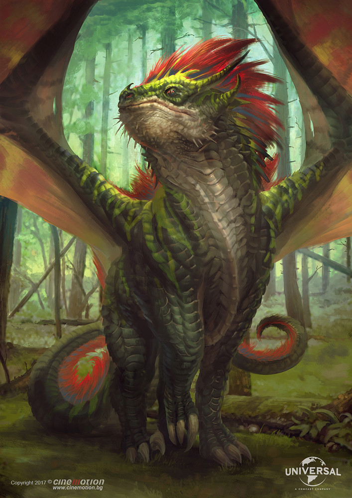 universal dragonheart dragon dragons concept art movie art background paintings art fantasy
