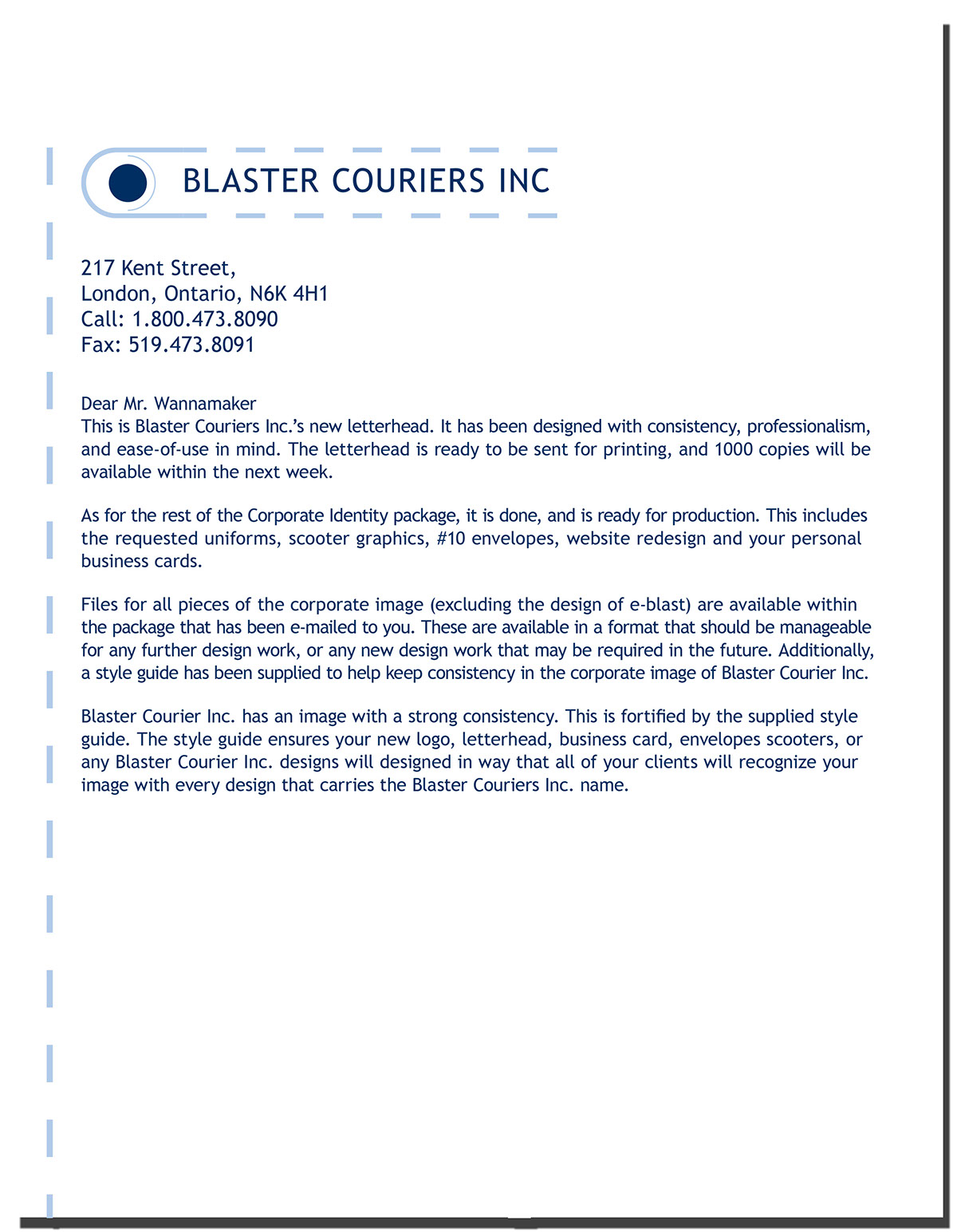 Blaster Courier Inc. Corporate Identity and Branding on Behance