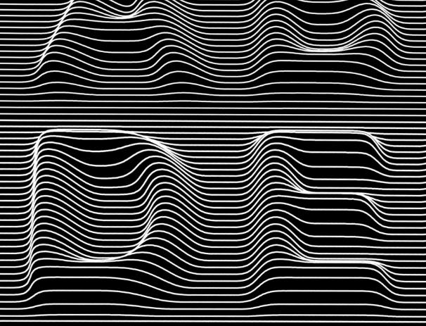 kwerk kraftwerk font wireframe lines typo optical lettering illusion