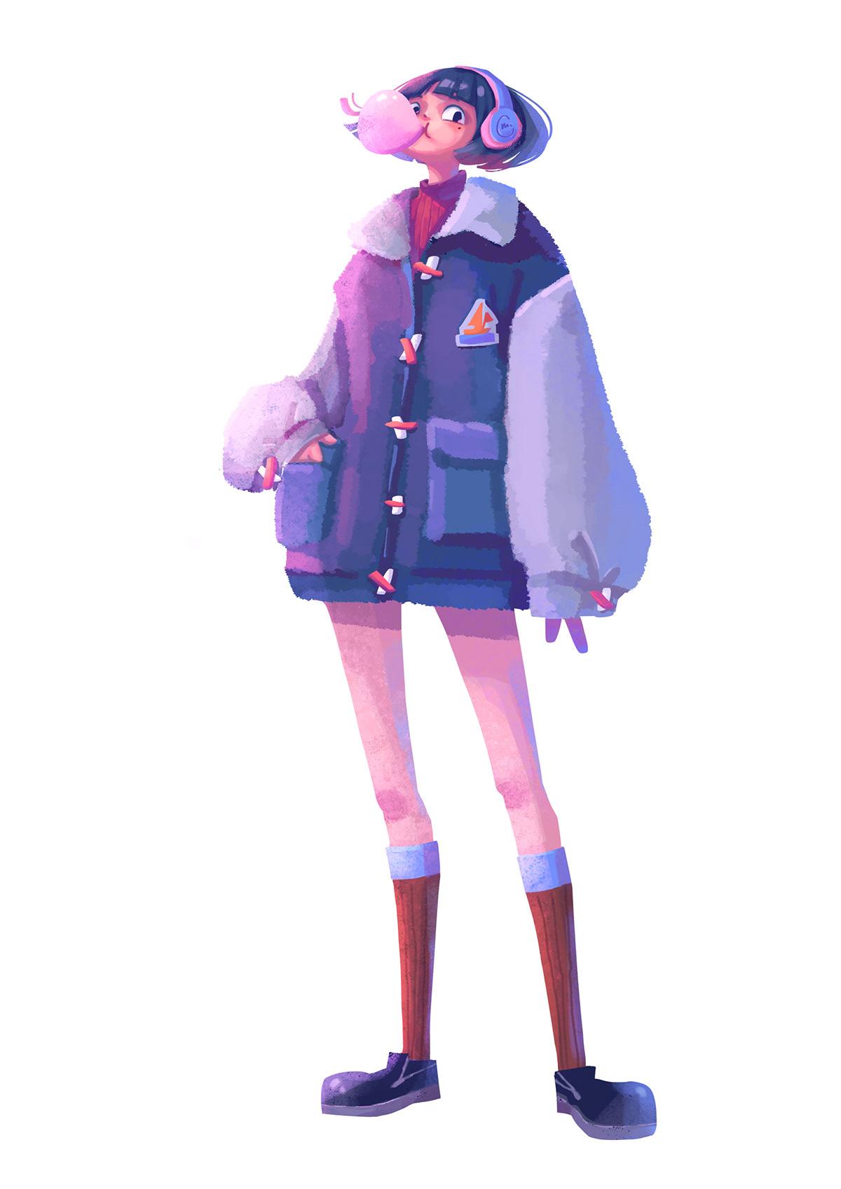 Character,girl,boy