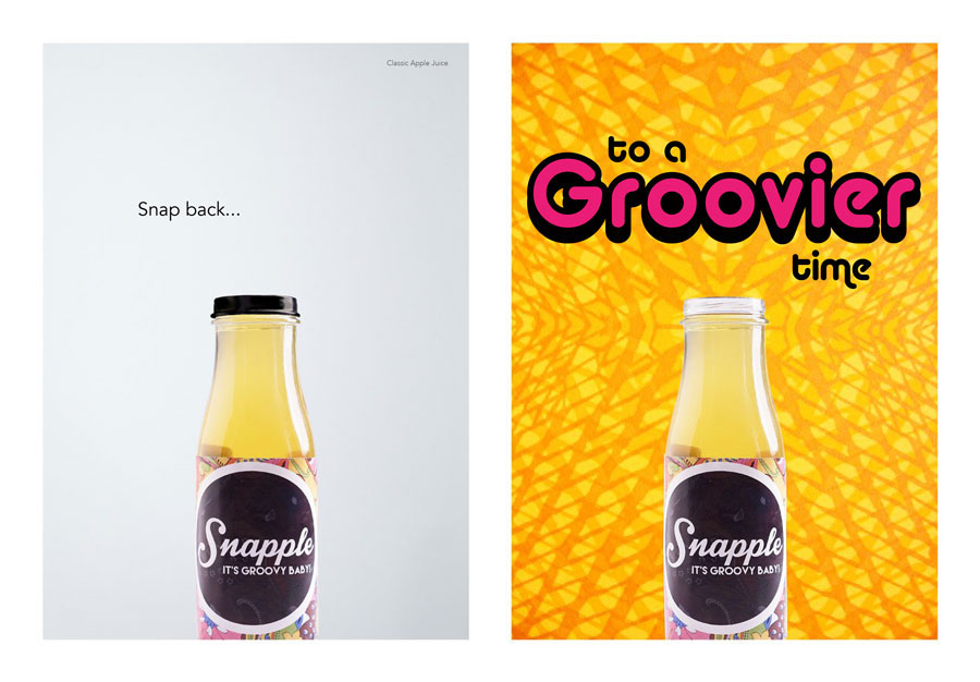 Snapple apple juice 70s