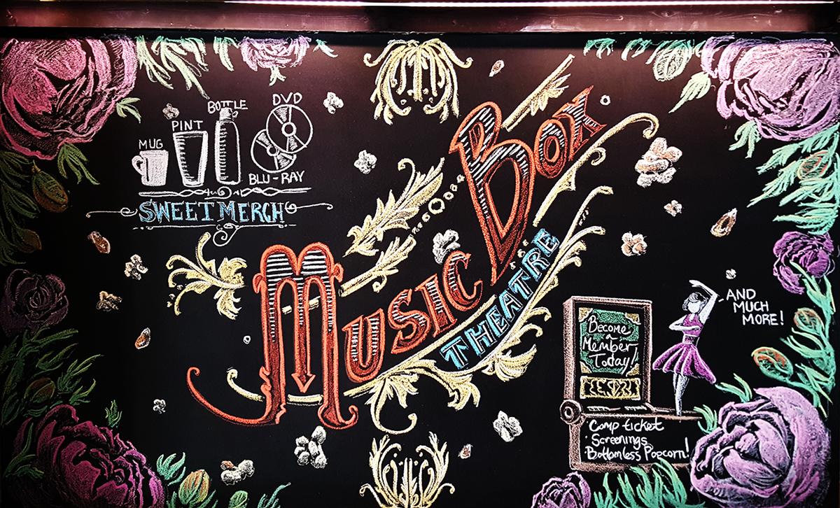 chalk Mural Movies Theatre