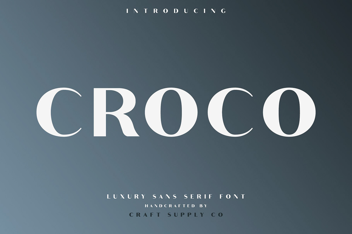 Croco - Font Family (Free Download) on Behance