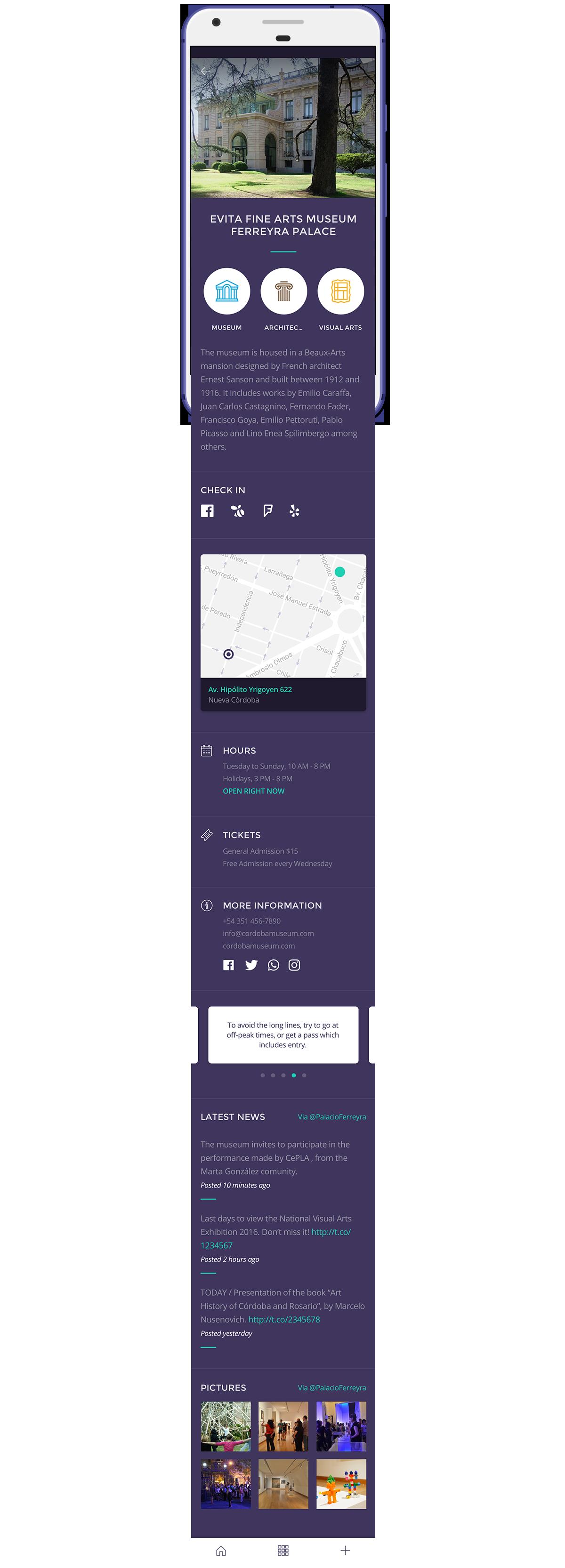 app tourism Guide city material design flat line icons icons argentina smart city