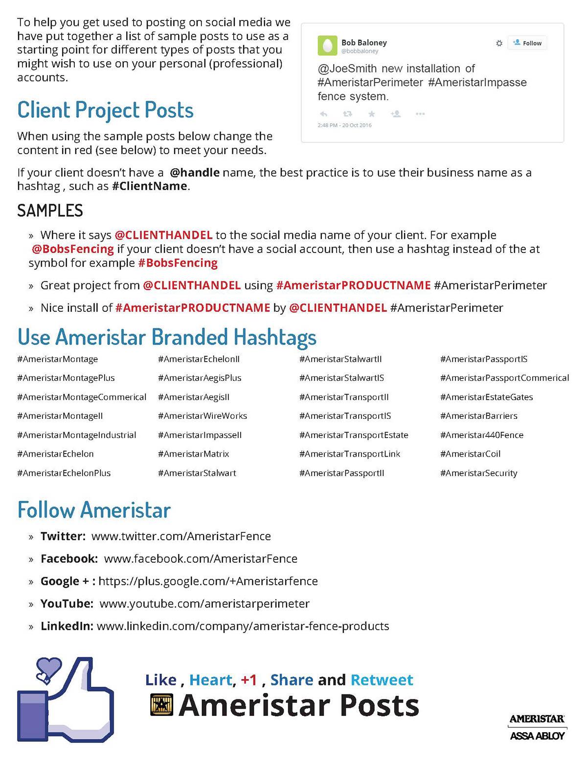 Ameristar Social Media Guidelines Booklet on Behance