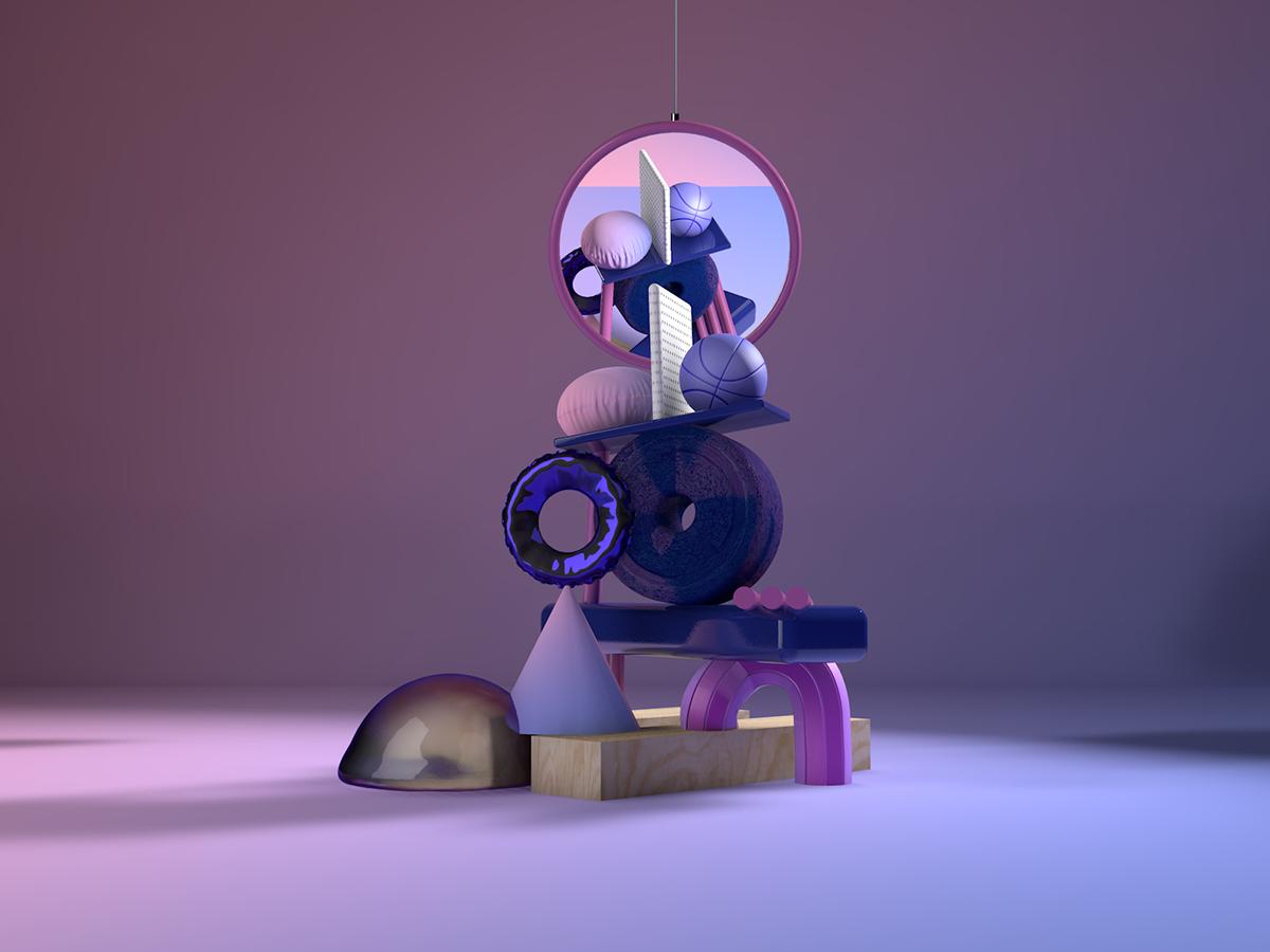 illusrtation 3D cinema4d abstract expieremental design 3D illustration