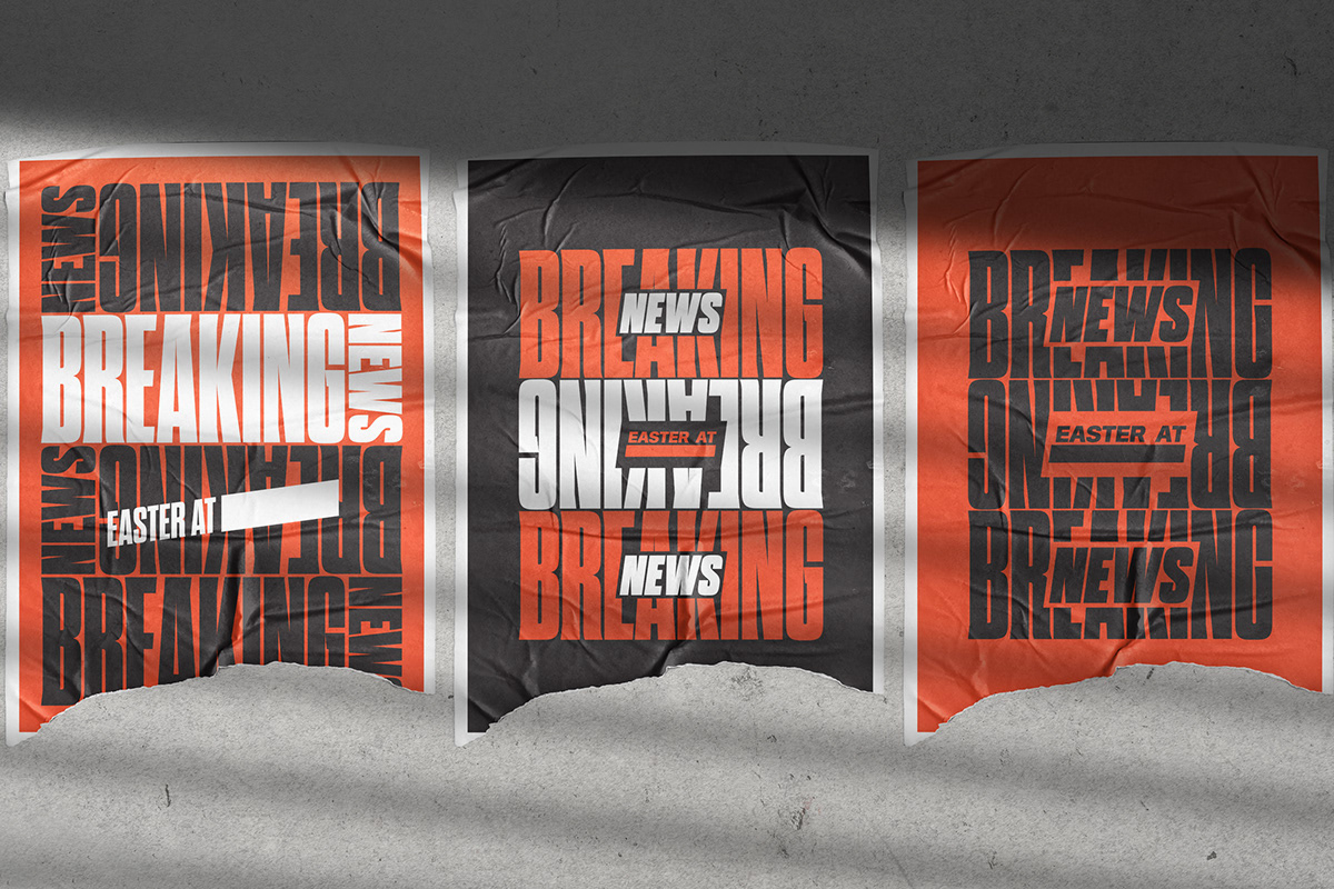 breaking news poster church Easter authentic church