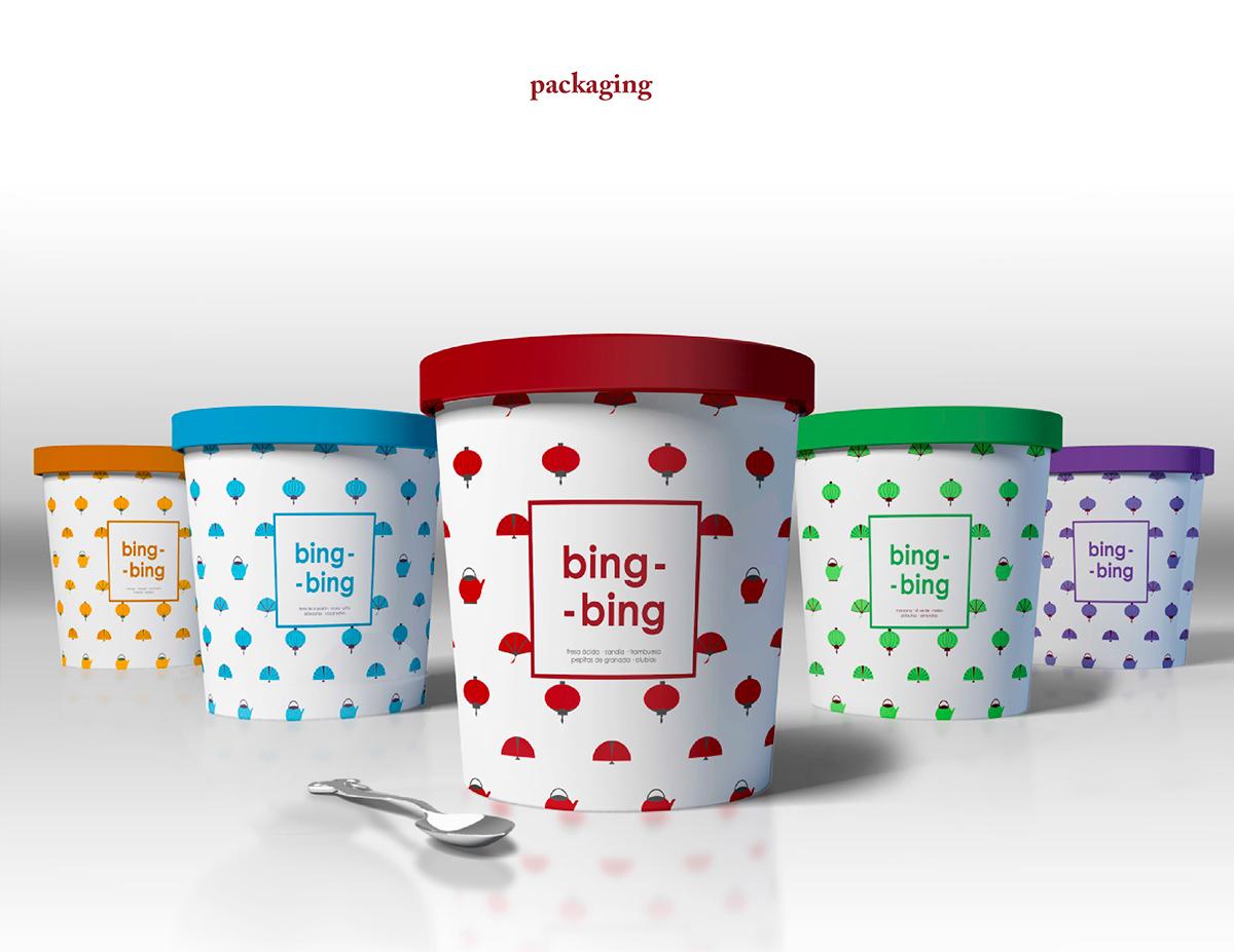 Pack ice-cream Food  restaurant summer brand