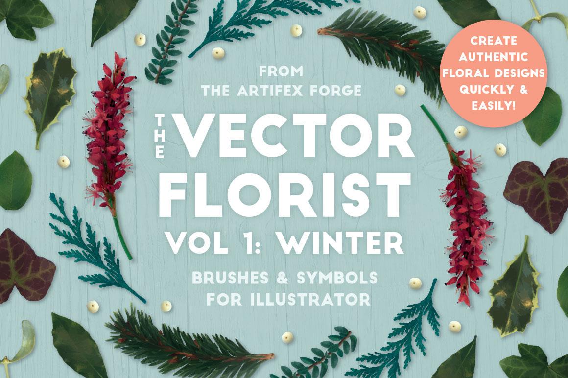 The Vector Florist Vol 1 Winter On Behance