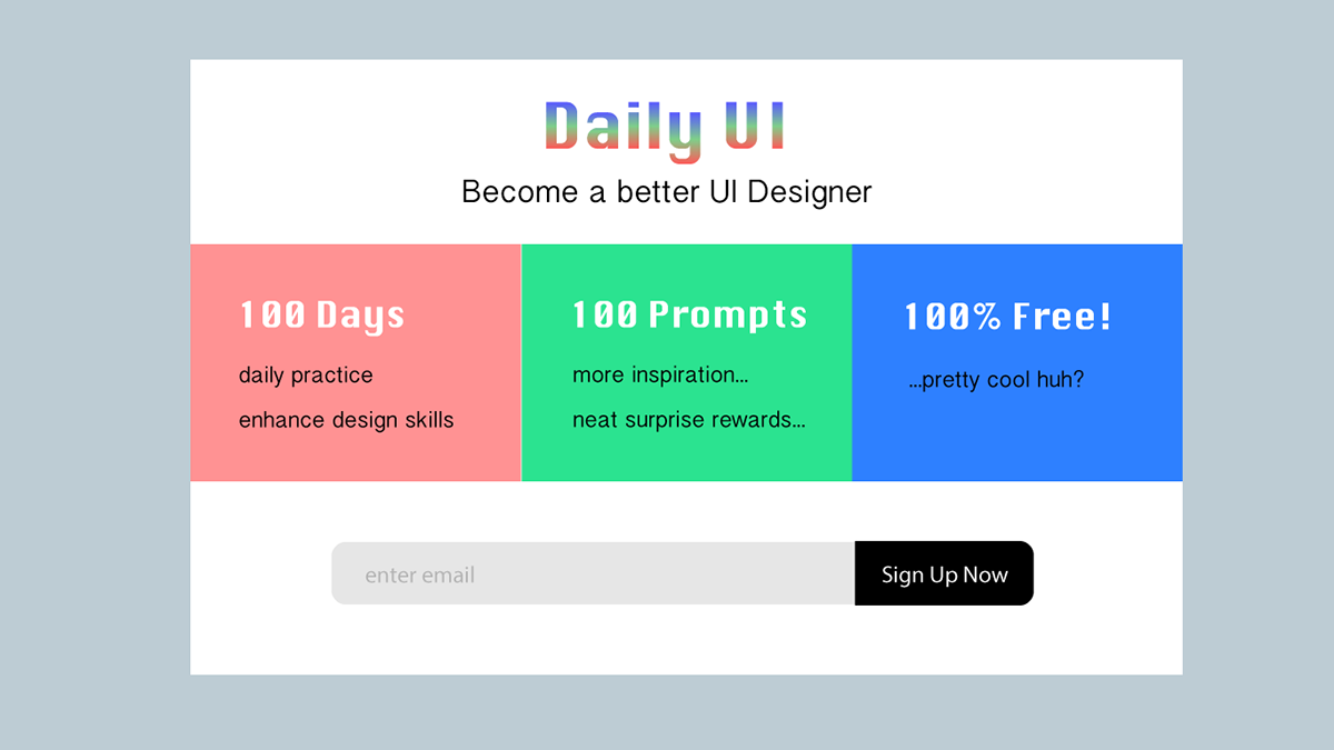 Daily UI Challenge Ep 1 On Behance