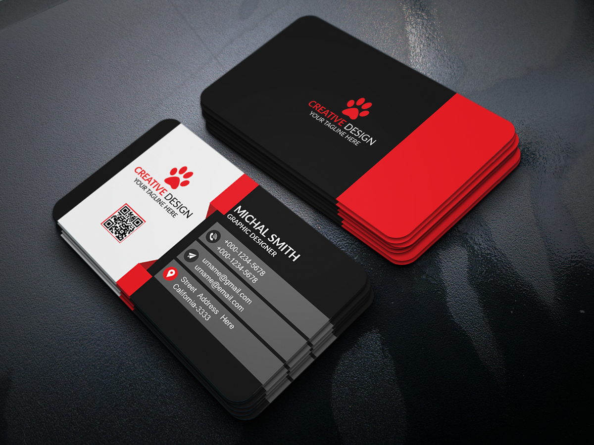 Business card design free psd on behance reheart Images