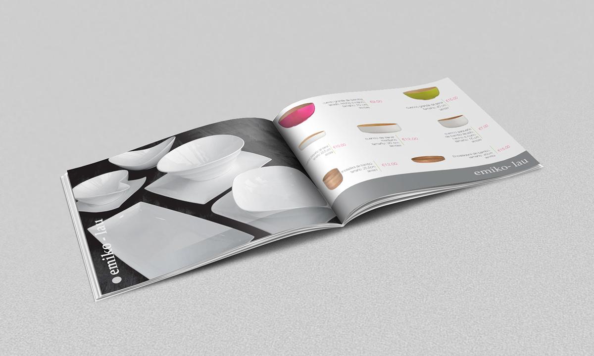 Cat logo de vajilla dise o editorial on behance for Catalogo de vajillas