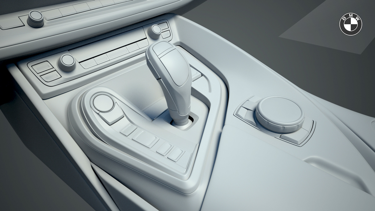 Bmw I8 Interior 3d Modeling On Behance