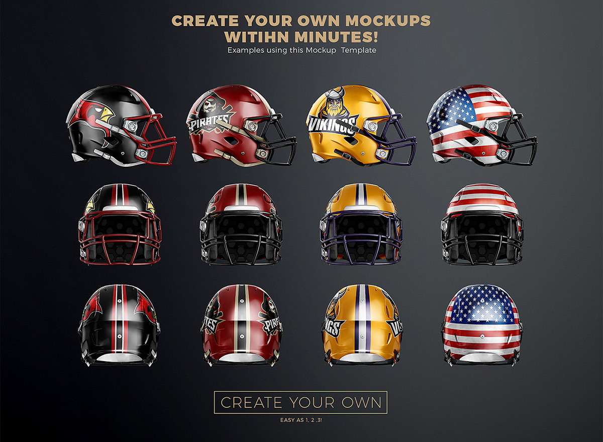 touchdown football uniform mockup on wacom gallery