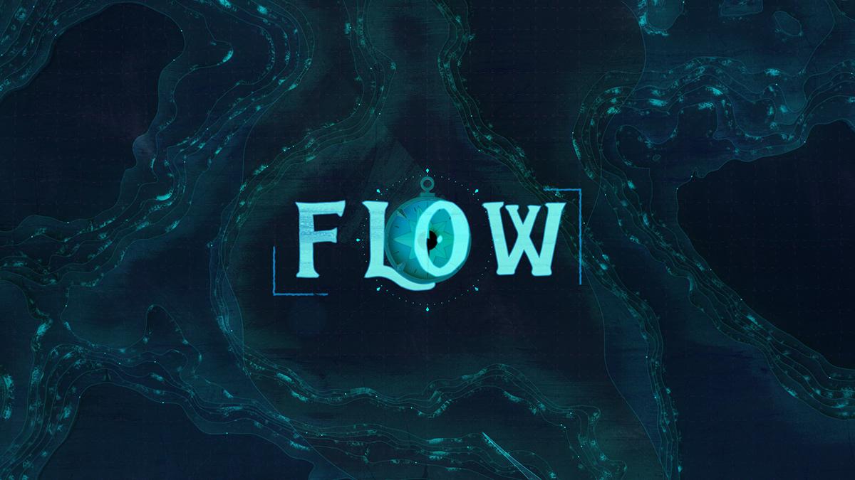 2D 3D animation  flow houdini MoGraph motion design sailing texture water
