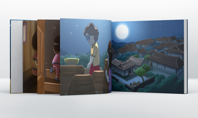 childrens book book jeonghwasu Folklore korean moonlight grandma