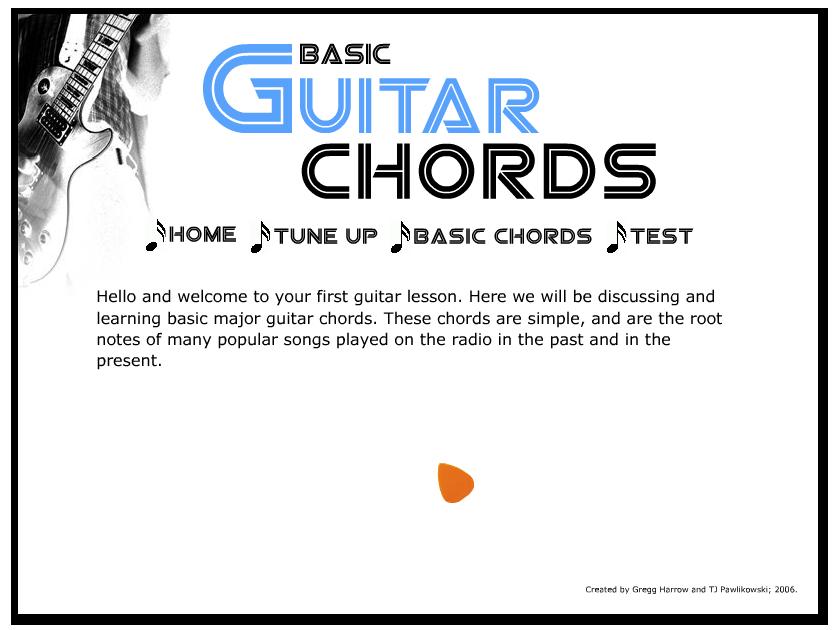 Flash Guitar Chord Training Program On Behance