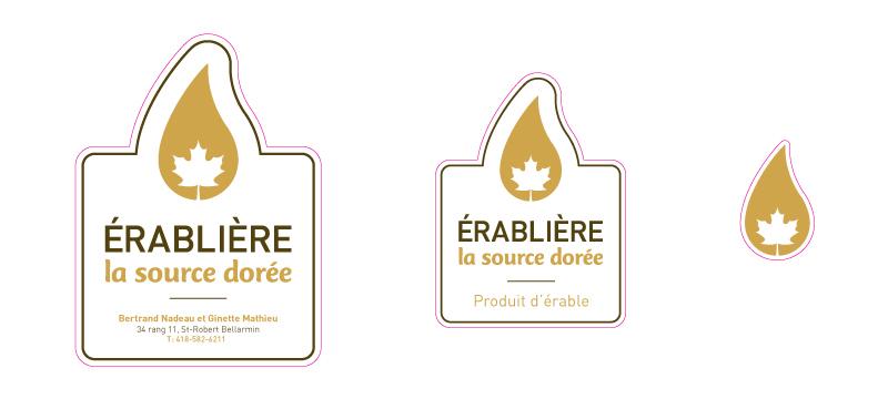 logo etiquette Logotype érable maple