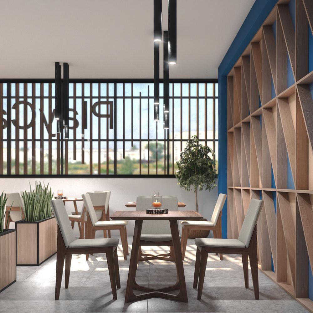3d modeling 3D Visualization 3dsmax architecture archviz cafe interior design  interior render rendering vray