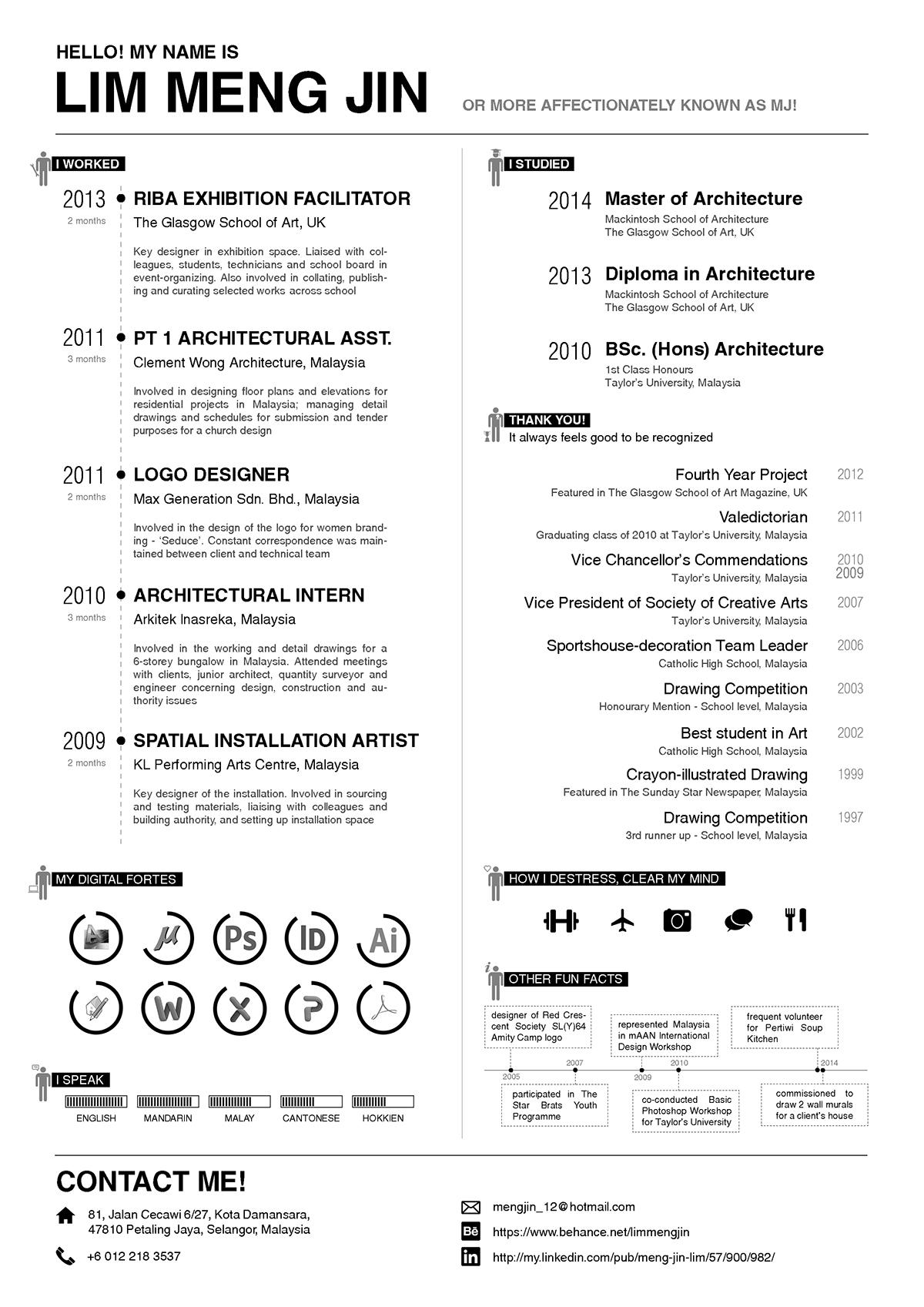 Curriculum Vitae 2014 on Behance