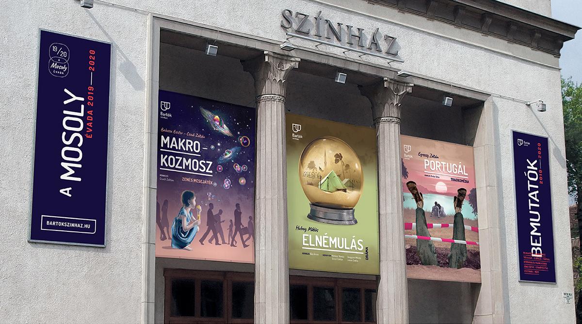 culture graphic design  ILLUSTRATION  poster print season series smile theater  Theatre