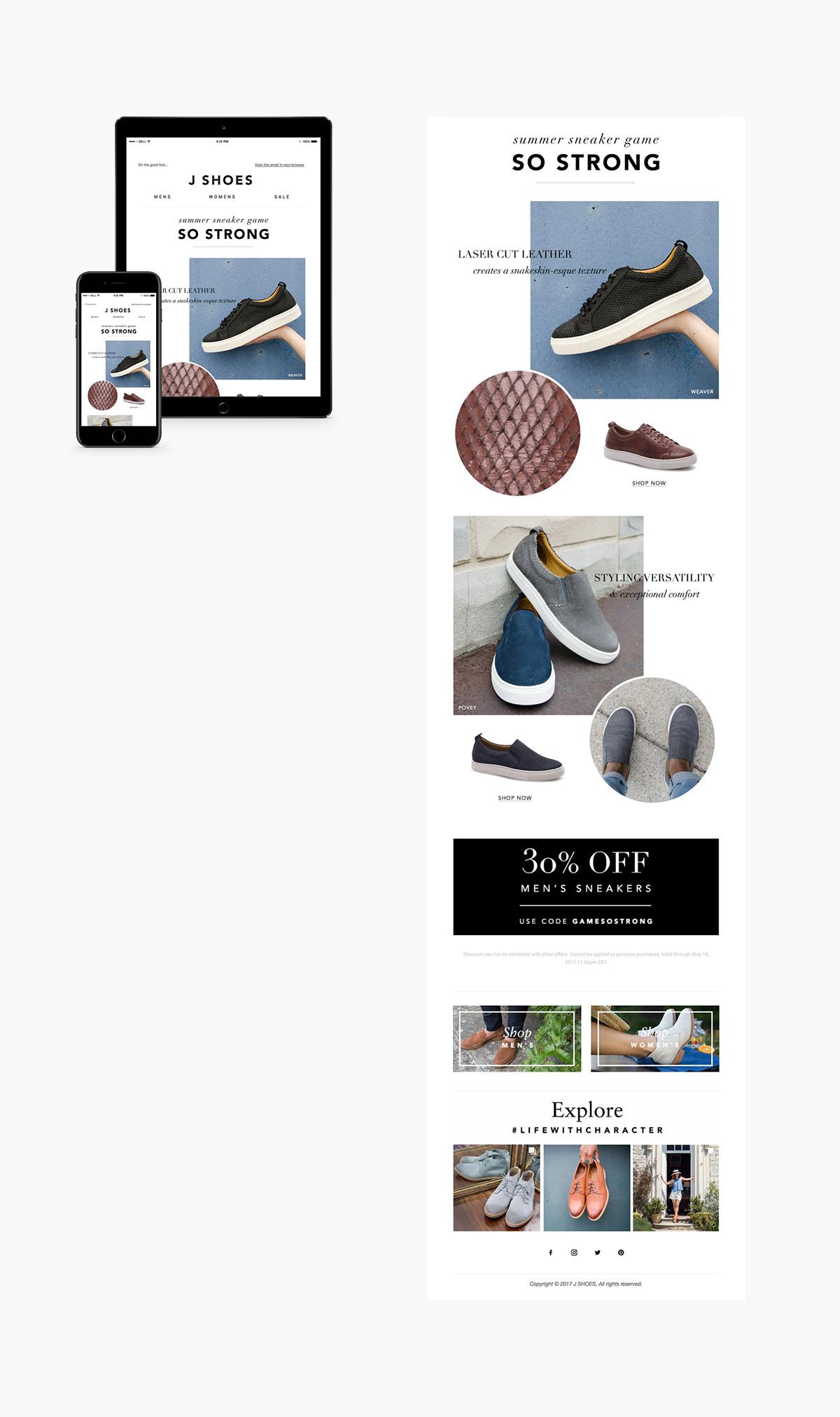 e-mail marketing   devices Web Design  graphic design  Fashion  shoes mailchimp Constant Contact Mockup