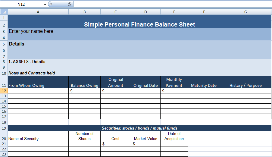 personal balance sheet example aildoc productoseb co
