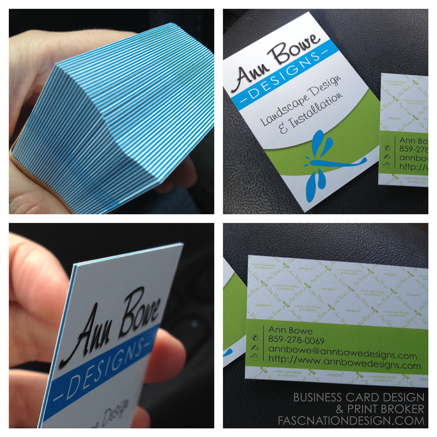 Ann bowe business cards moo faux letterpress on behance reheart Image collections