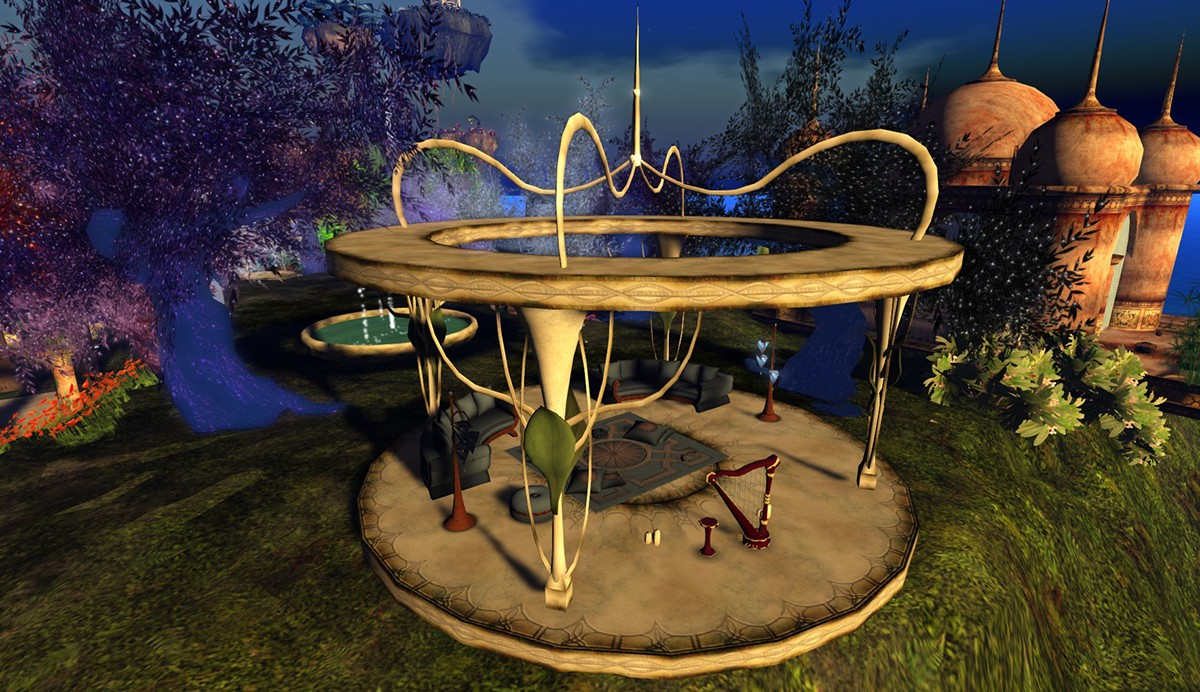second life garden design