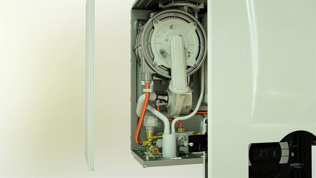 Adobe Portfolio combi Boiler heating radiator hologram water Liquid Exhibition  cooling building