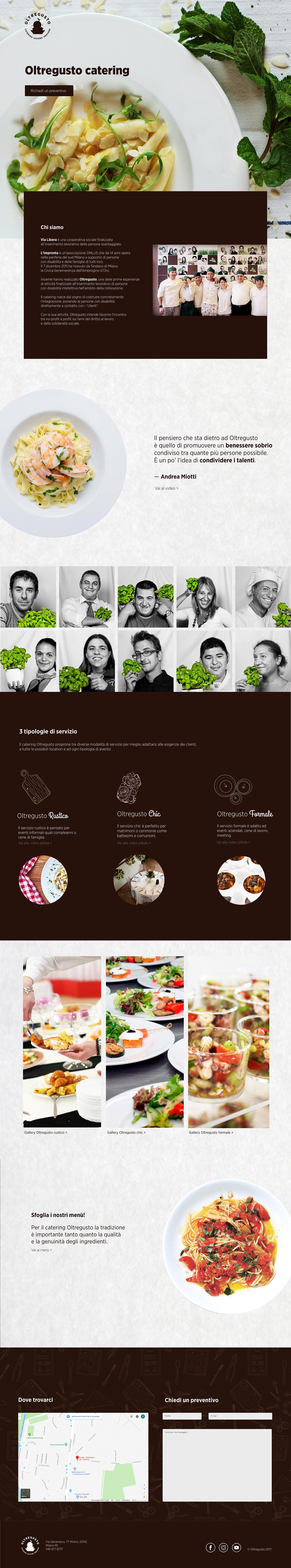 brand identity catering Food  Web Design