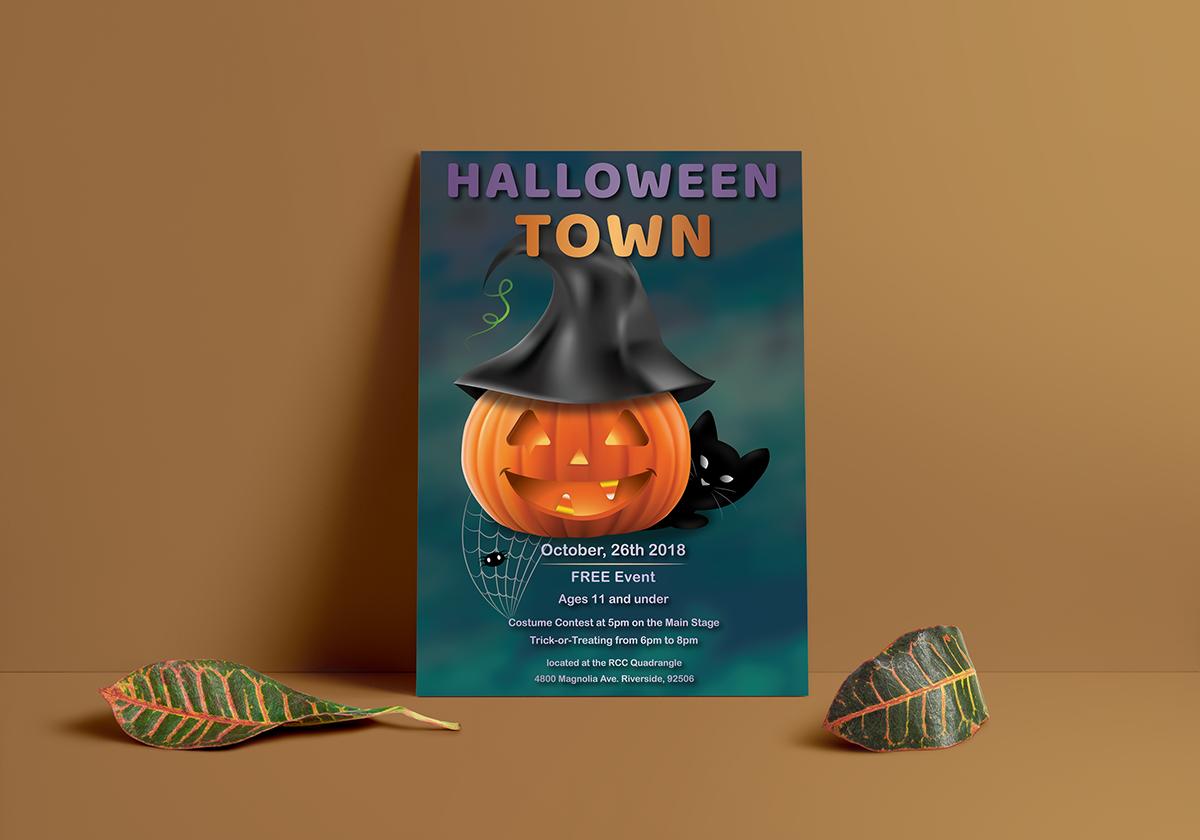 rcc halloween town poster on behance