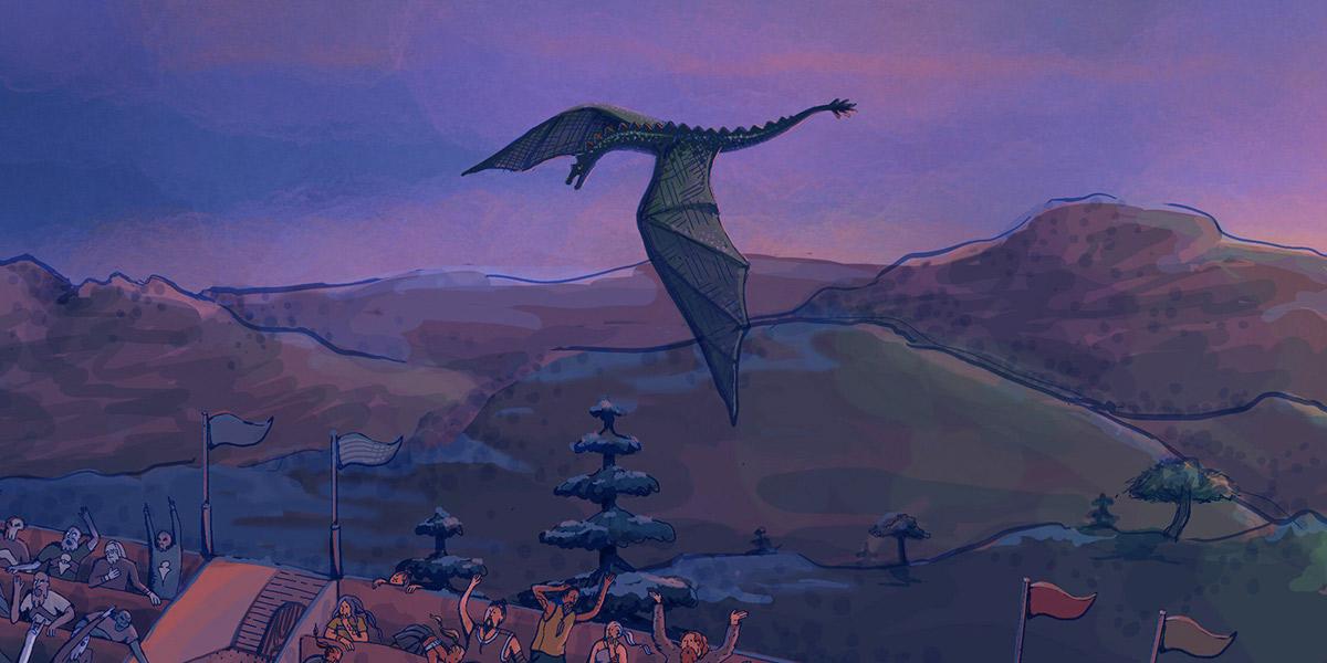 Procreate ipad pro hand drawn got Game of Thrones dragons surreal white walker ILLUSTRATION  process