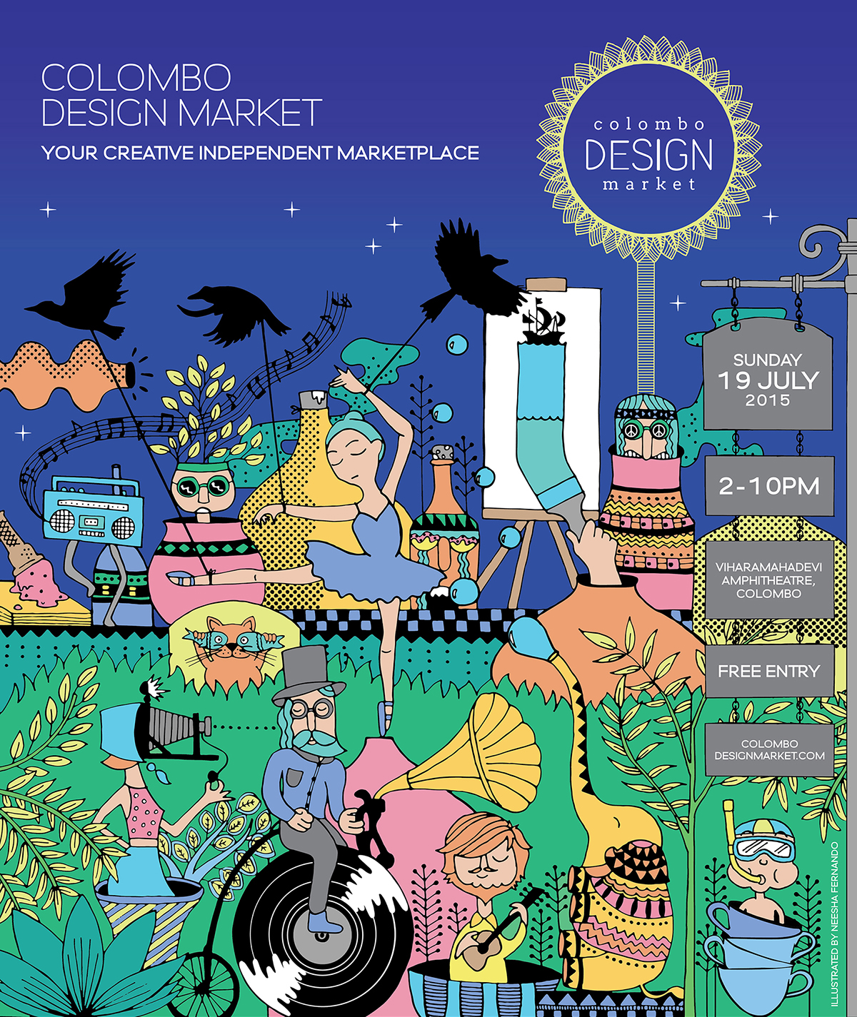 Colombo design market night edition event poster on behance for Colombo design gallery