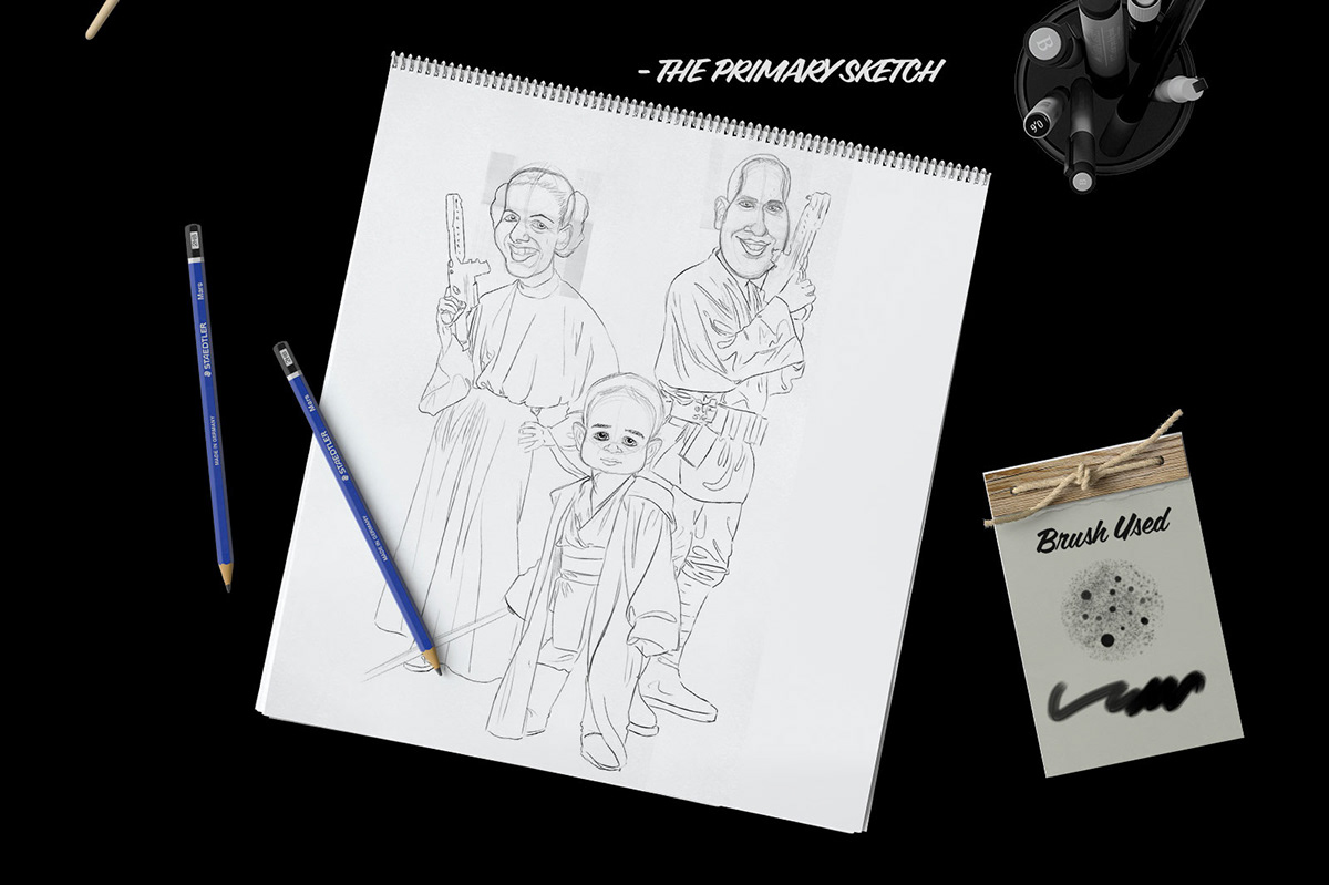 Star Wars Family Caricature on Wacom Gallery