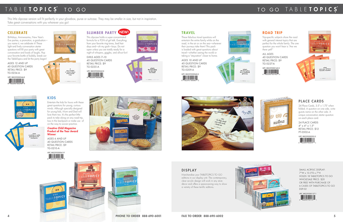 TableTopics TG-0210-A To Go Kids Basic Color